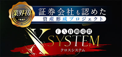 証券会社もみとめたFX自動売買ツール「クロスシステム」について