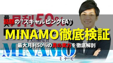 【神EA】FX自動売買MINAMOの驚愕パフォーマンス公開